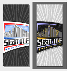 layouts for seattle vector image