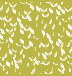 leaves leaf fall seamless floral pattern vector image