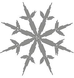 Linear snowflake winter symbol holiday design vector