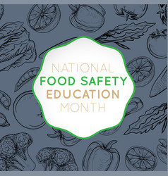 National food safety education month logo icon vector