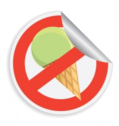 no ice-cream sign vector image
