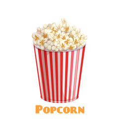 popcorn striped bowl vector image