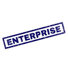 Rectangle grunge enterprise stamp vector