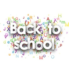 School background with colour letters vector