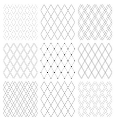 Seamless diamonds patterns set vector