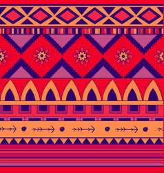 seamless pattern in ethnic style embroidery vector image