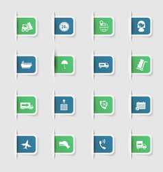 Set a collection unique paper stickers express vector