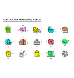 set construction and building icons home vector image