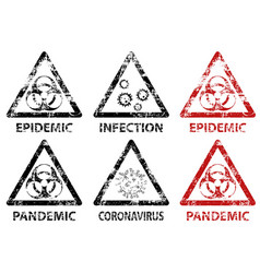 Set stamp epidemic pandemic and infection vector