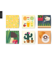 simple things - postcards vector image