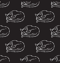sleeping cats seamless pattern vector image