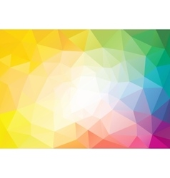 Spectrum polygon background or frame vector