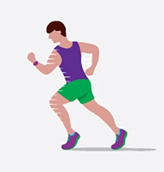 Speedy Male Runner vector image