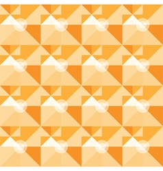 Square orange geometrical abstract pattern vector