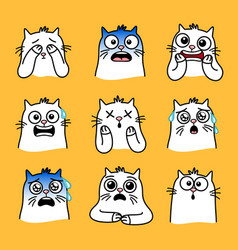 surprised kitty set vector image