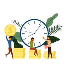 Times is money business and management concept vector