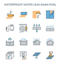 Waterproof water leak icon vector