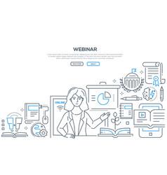 webinar - modern colorful line design style vector image