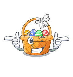 Wink easter basket isolated in the character vector