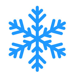 winter snowflake isolated on white vector image