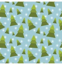 winter tree seamless pattern vector image