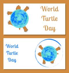 world turtle day land tortoise the tortoise shell vector image