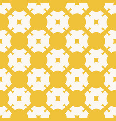 yellow geometric seamless pattern ornamental grid vector image