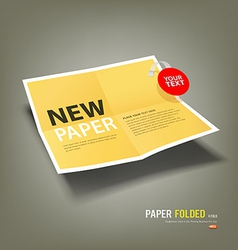 Yellow Paper Folded four fold for business vector image