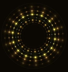 abstract gold round frame vector image vector image