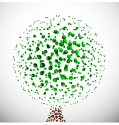 abstract molecular tree vector image vector image