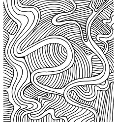 coloring page doodle wave pattern vector image