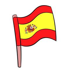 flag of spain icon cartoon vector image vector image