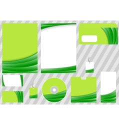 green business corporate template vector image vector image