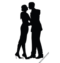 romantic couples vector image vector image