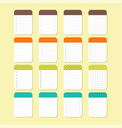 template notepad design sheets of paper vector image