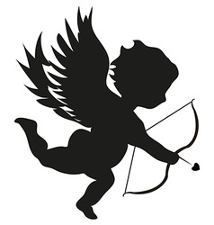 Cupid with bow vector image