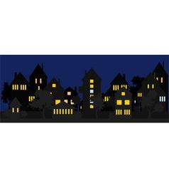 Night street vector image vector image