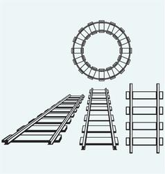 Set railroad vector image