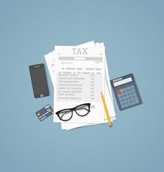 Taxes vector image