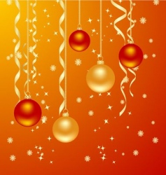 Christmas orange vector image vector image