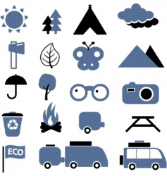 eco travel signs vector image