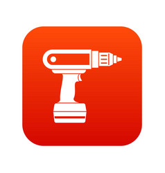 electric screwdriver drill icon digital red vector image vector image