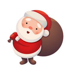 santa claus on white background sticker jolly vector image vector image