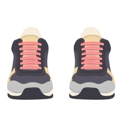 Sneakers isolated on white background vector image vector image