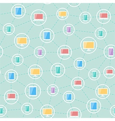 social network devices pattern vector image vector image
