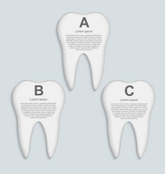 tooth infographic Design template vector image