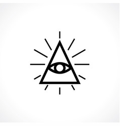 all-seeing eye vector image