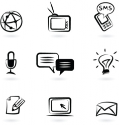 communication technology icon vector image vector image