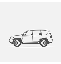 grayscale image of the car vector image vector image