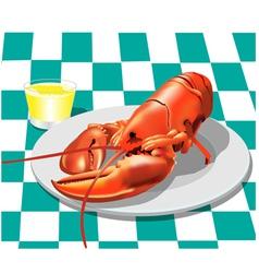Lobster dinner vector
